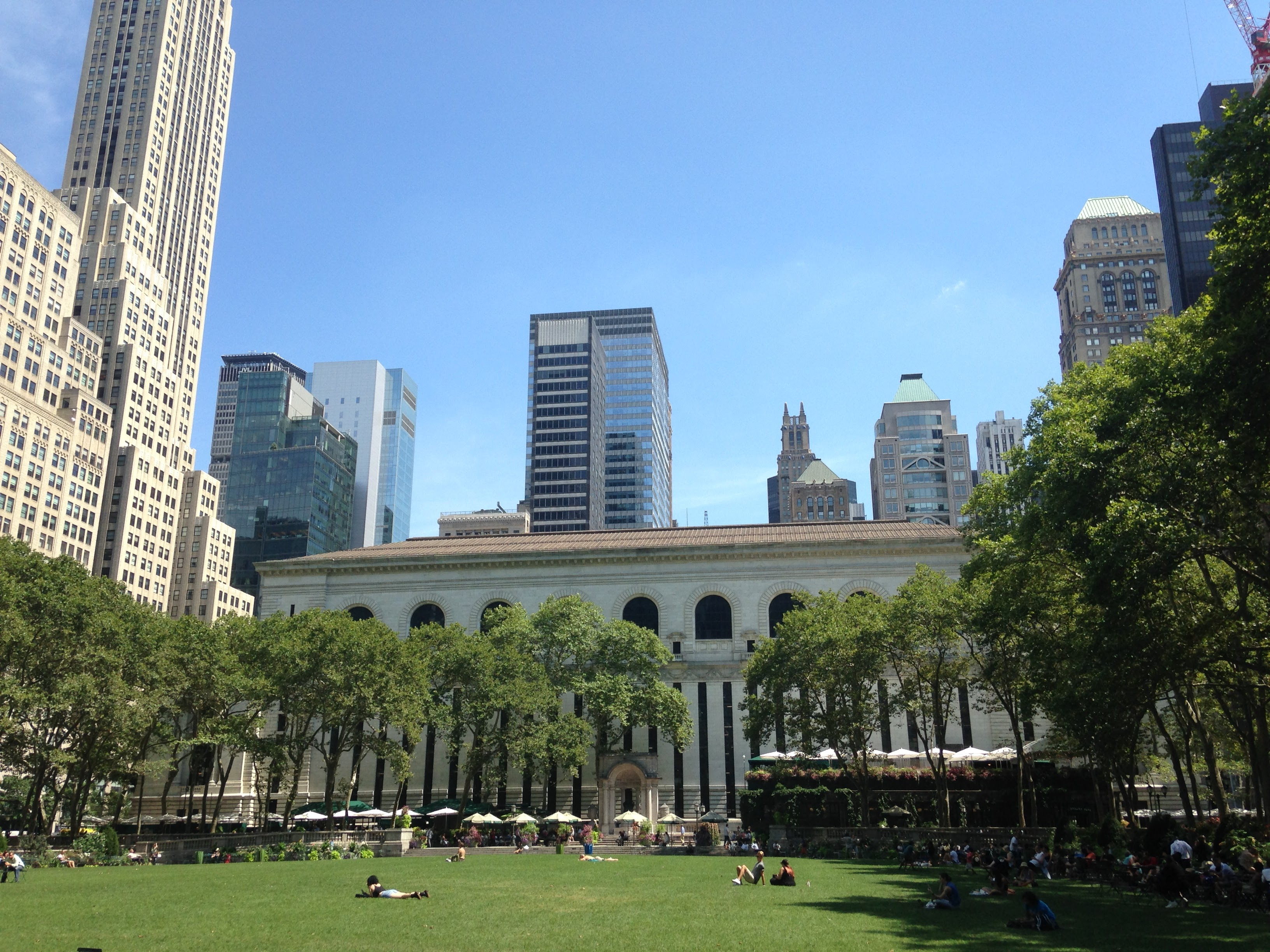 bryant park nyc nypl view