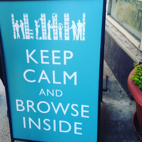keep calm browse books sign