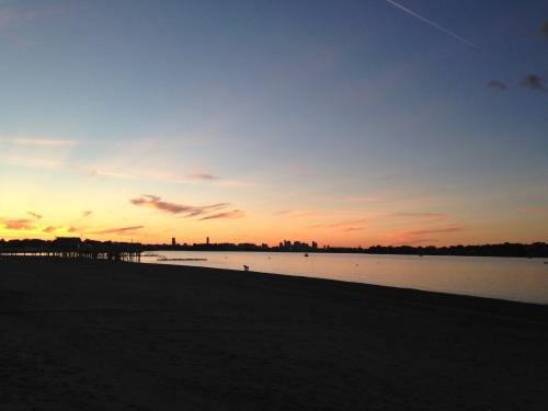 summer beach view boston
