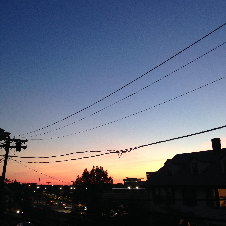 summer sunset view porch