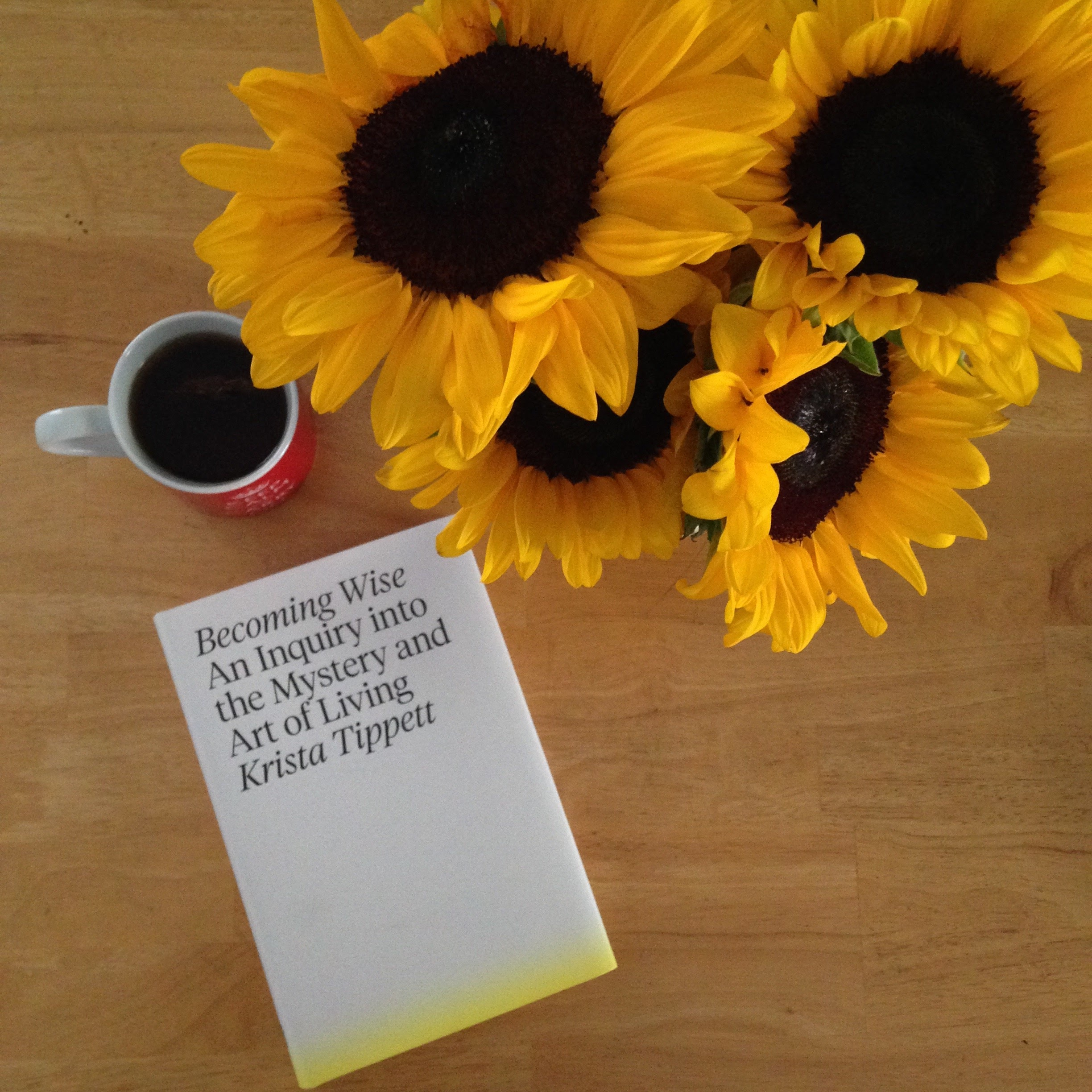 becoming wise book sunflowers tea
