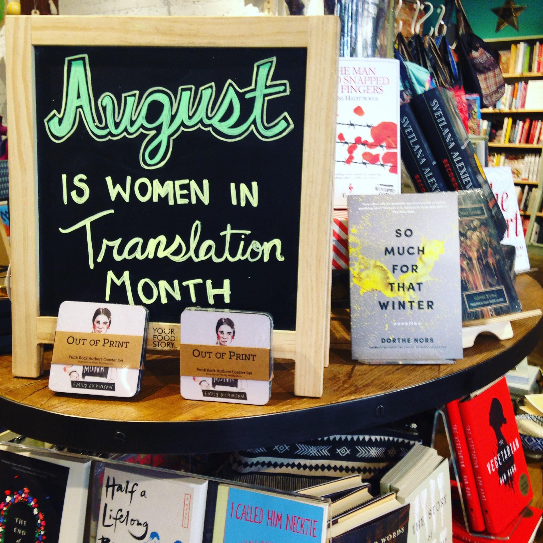 book culture women display