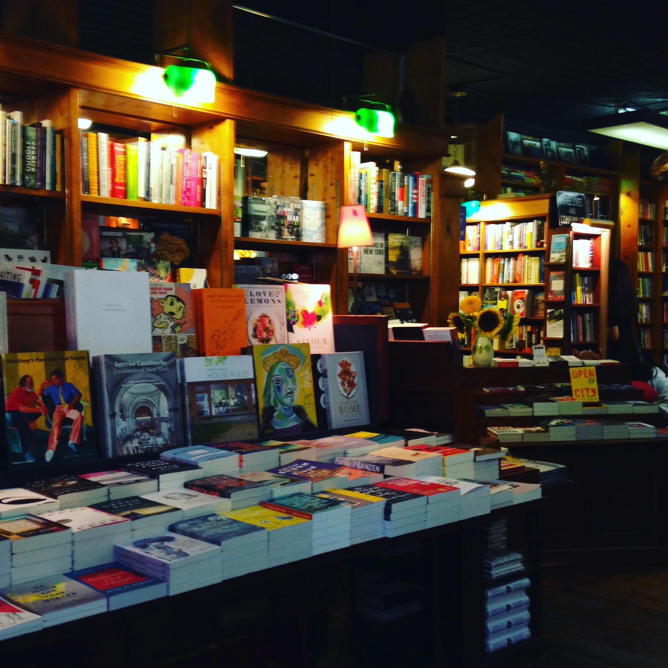 three lives bookstore interior