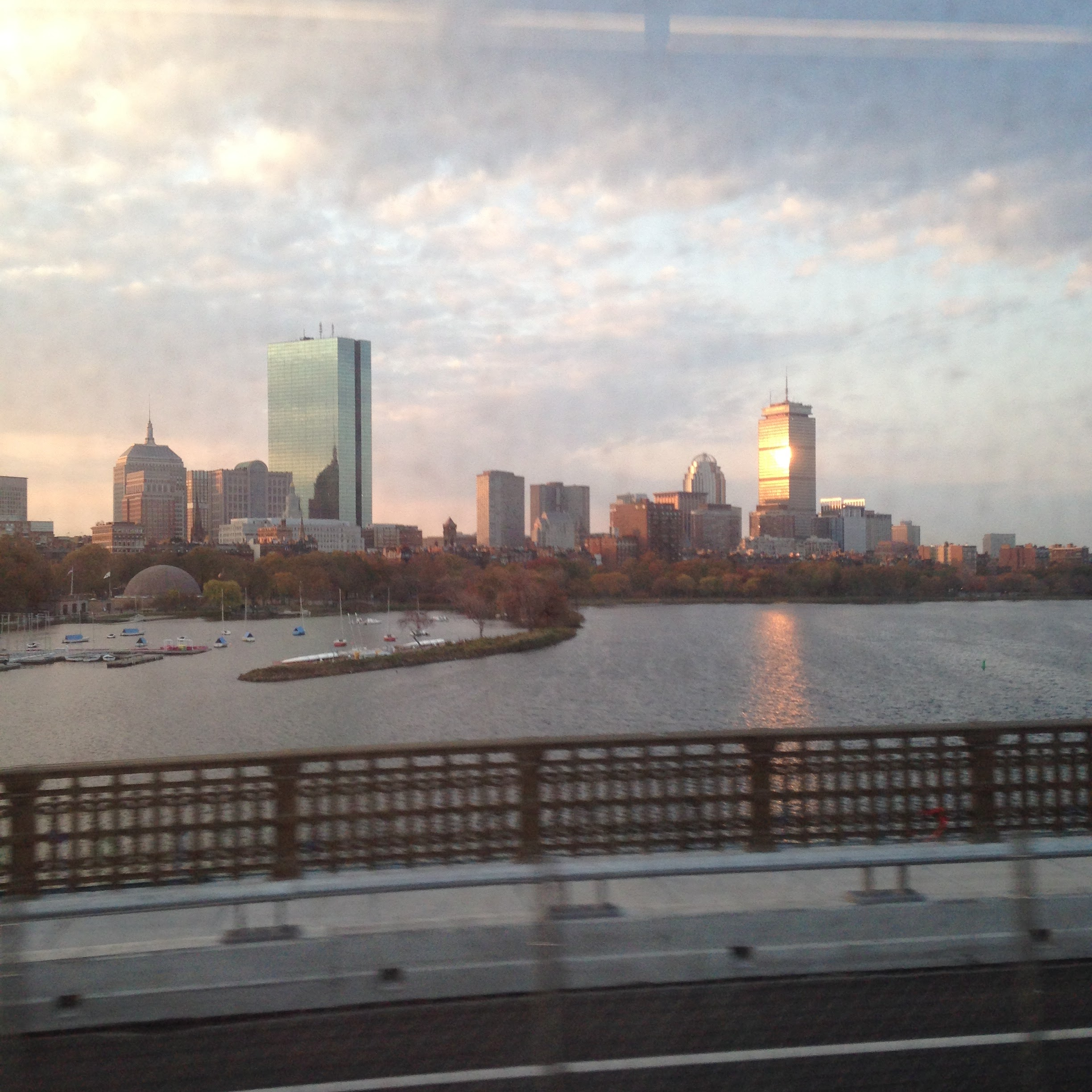 boston skyline sunrise view