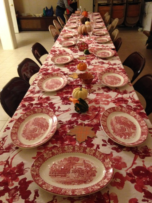 turkeypalooza table