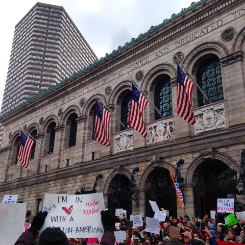 boston library protest