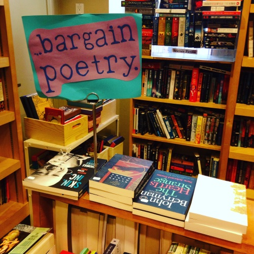 bargain poetry bookbook nyc