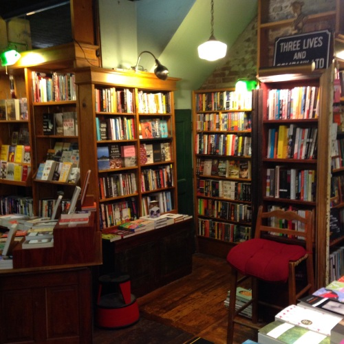 three lives bookstore interior nook nyc