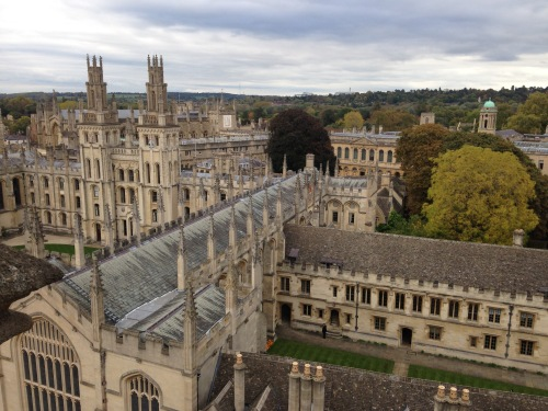 all souls college view towers oxford