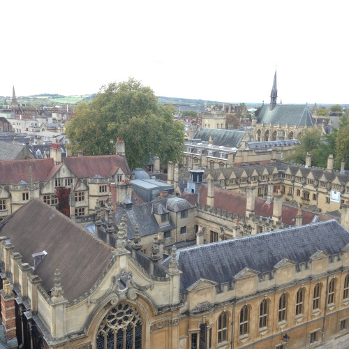 exeter college oxford view towers