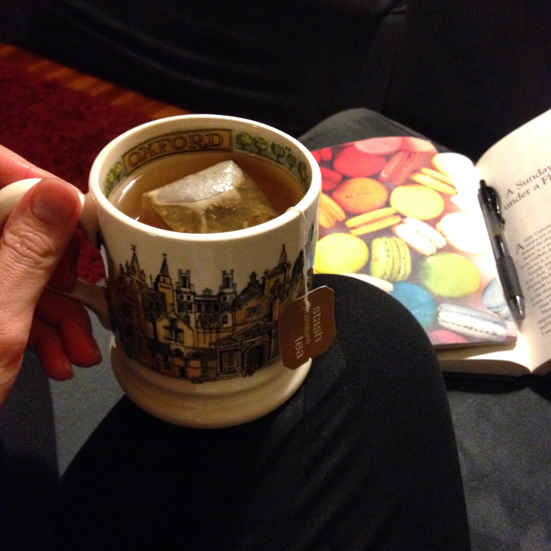 lemon ginger tea books journal