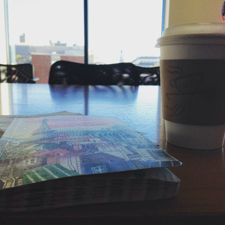 hpac notebook tea table window