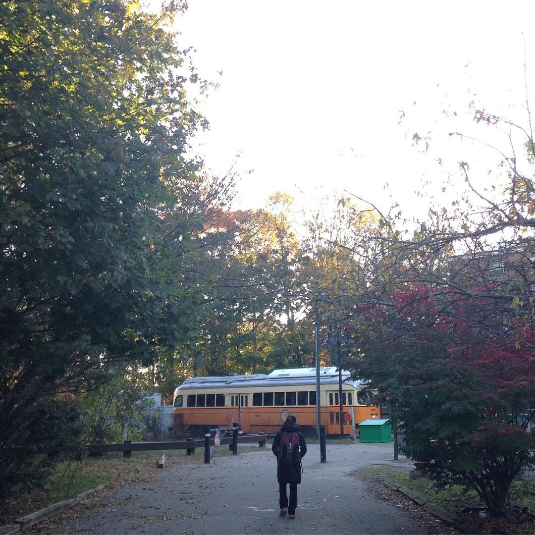 trolley morning dorchester ma mbta