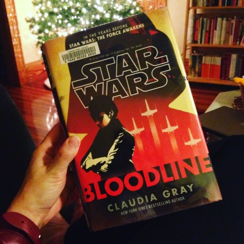 bloodline book christmas tree star wars
