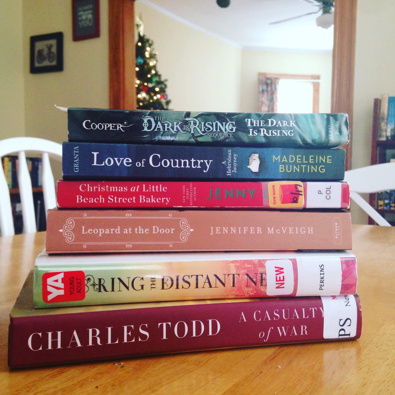 book stack christmas tree