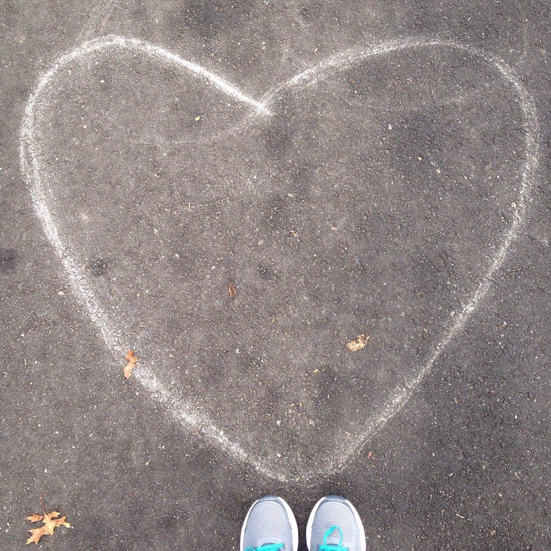heart sneakers trail