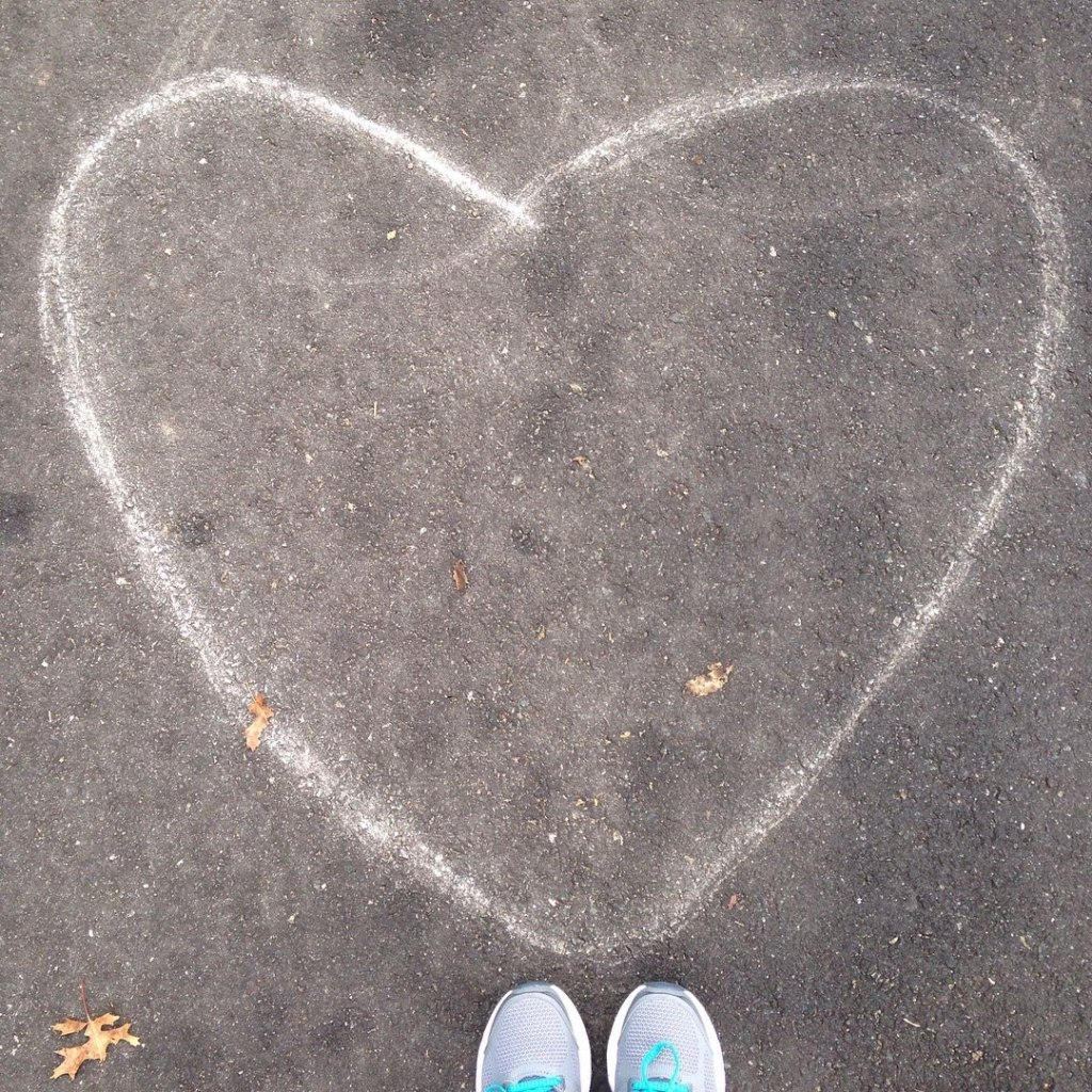 heart sneakers trail