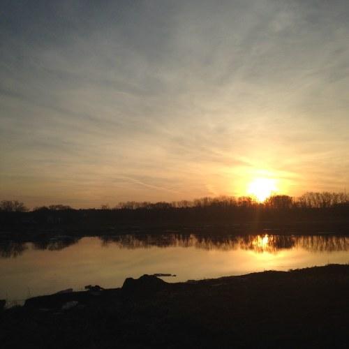 sunday sunset river trail neponset