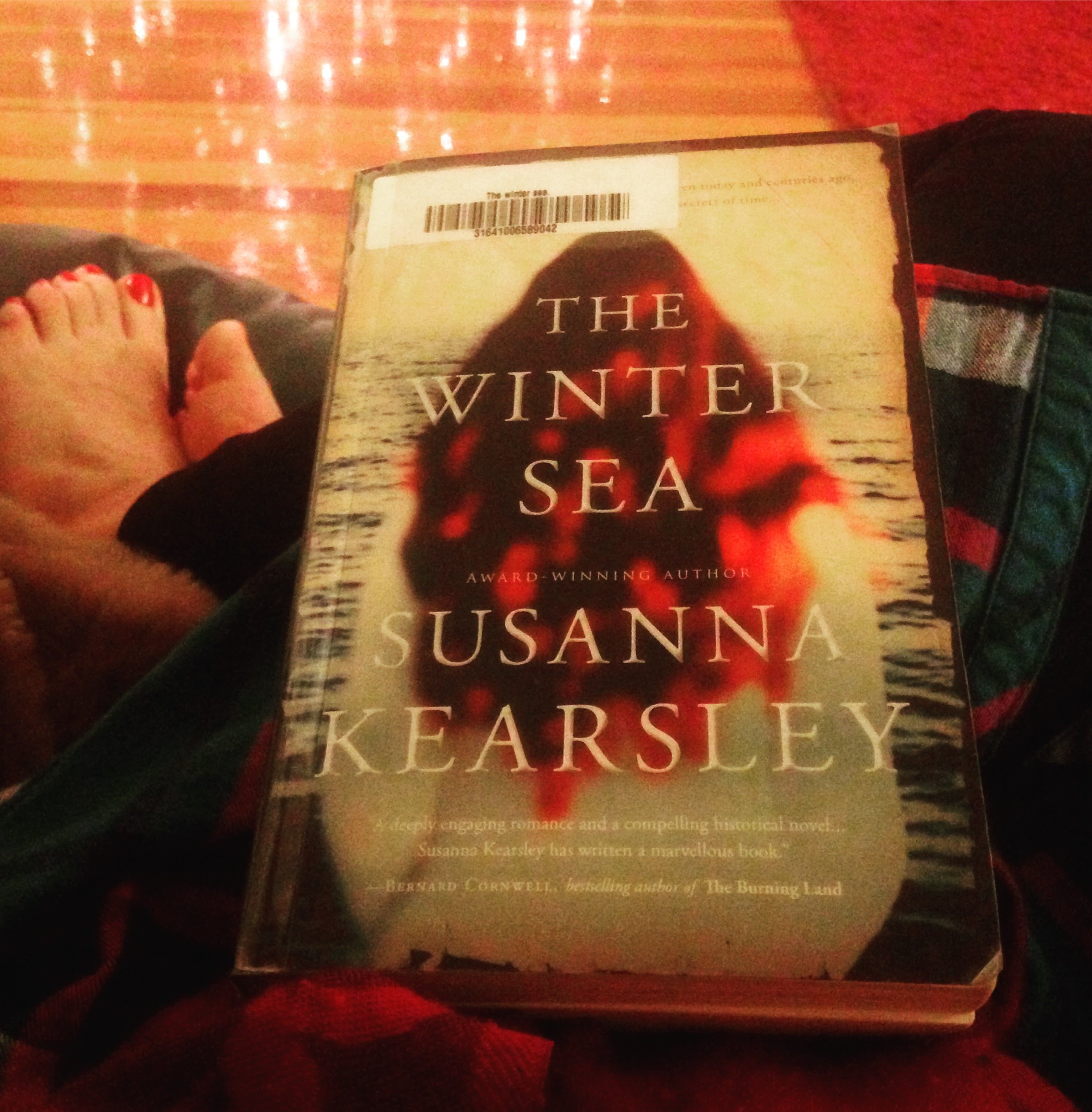 the winter sea book cover lights bare feet