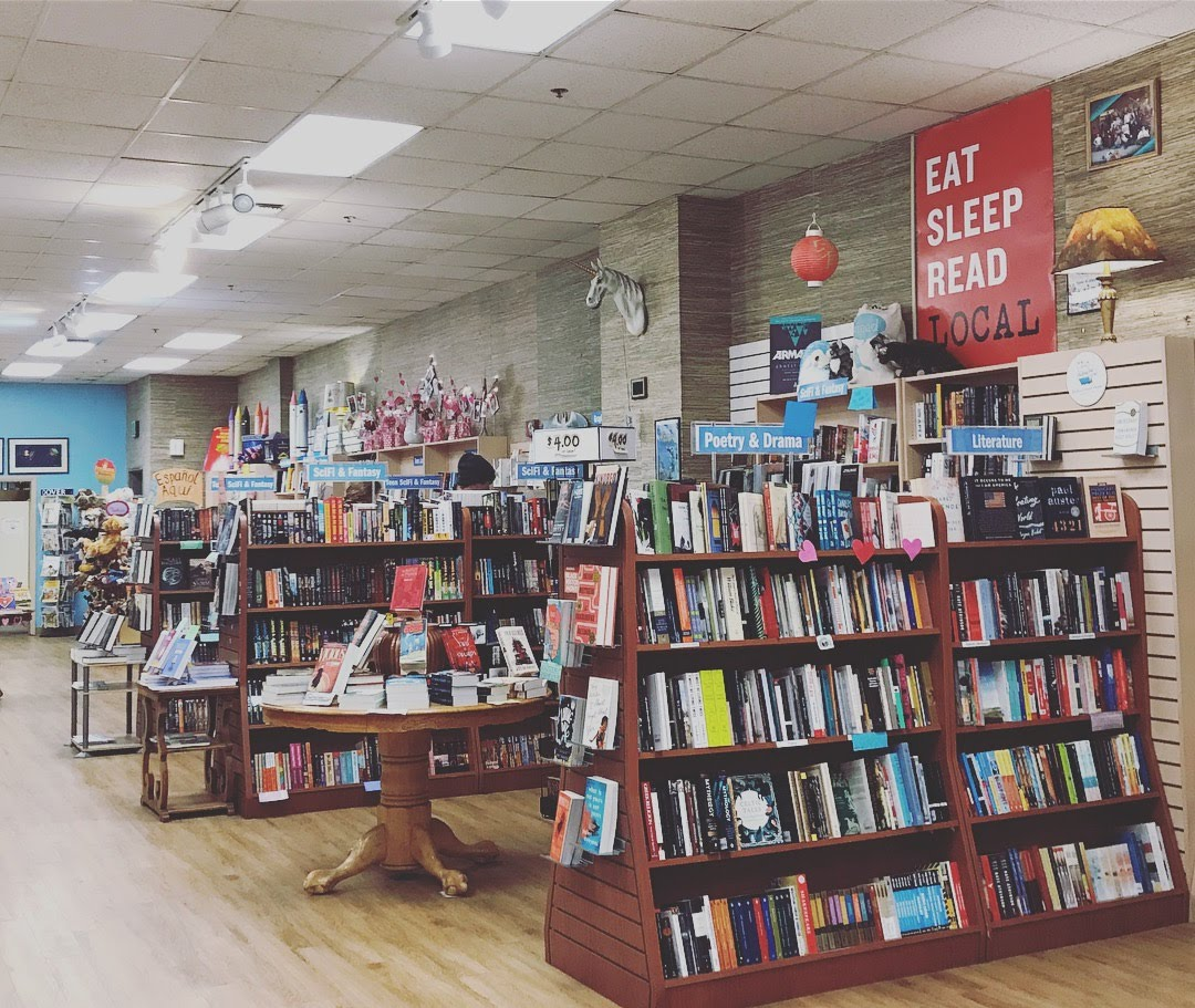 rediscovered books boise bookstore interior