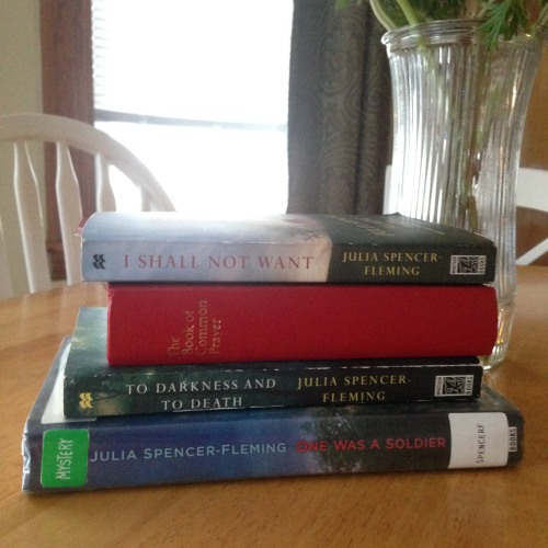 clare russ book stack julia spencer fleming mysteries