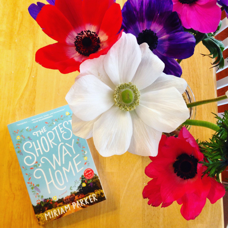 shortest way home book anemones flowers