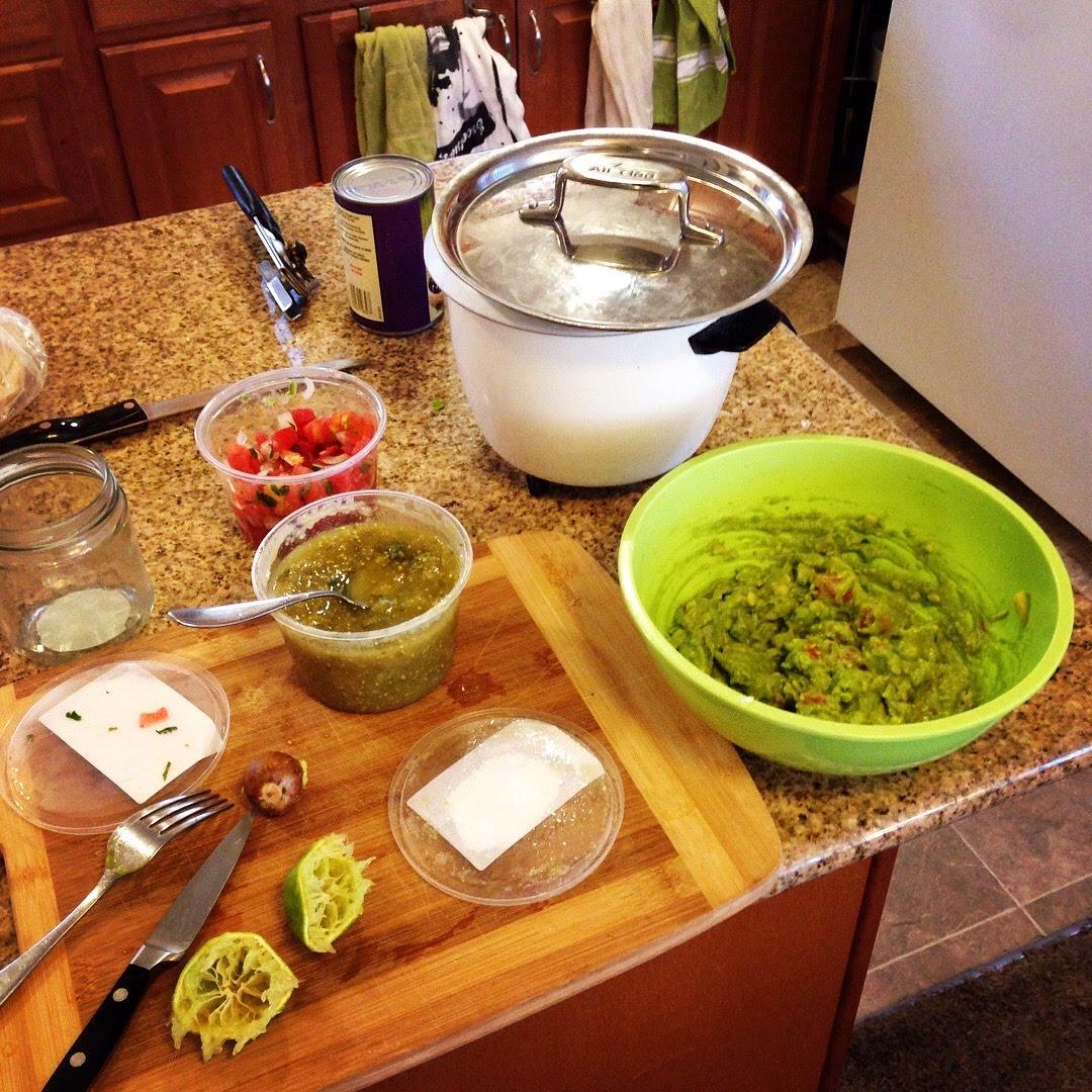 guacamole rice tacos