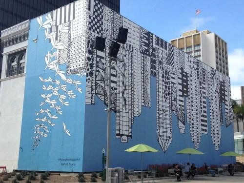 san diego skyline mural