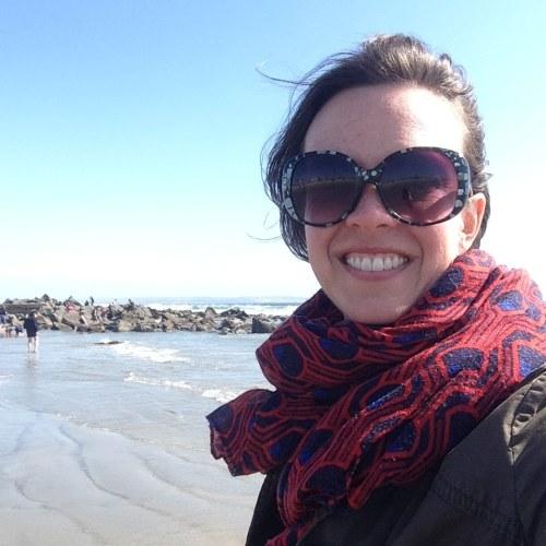 katie scarf beach