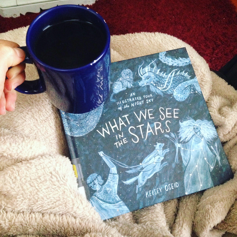 stars book blue mug