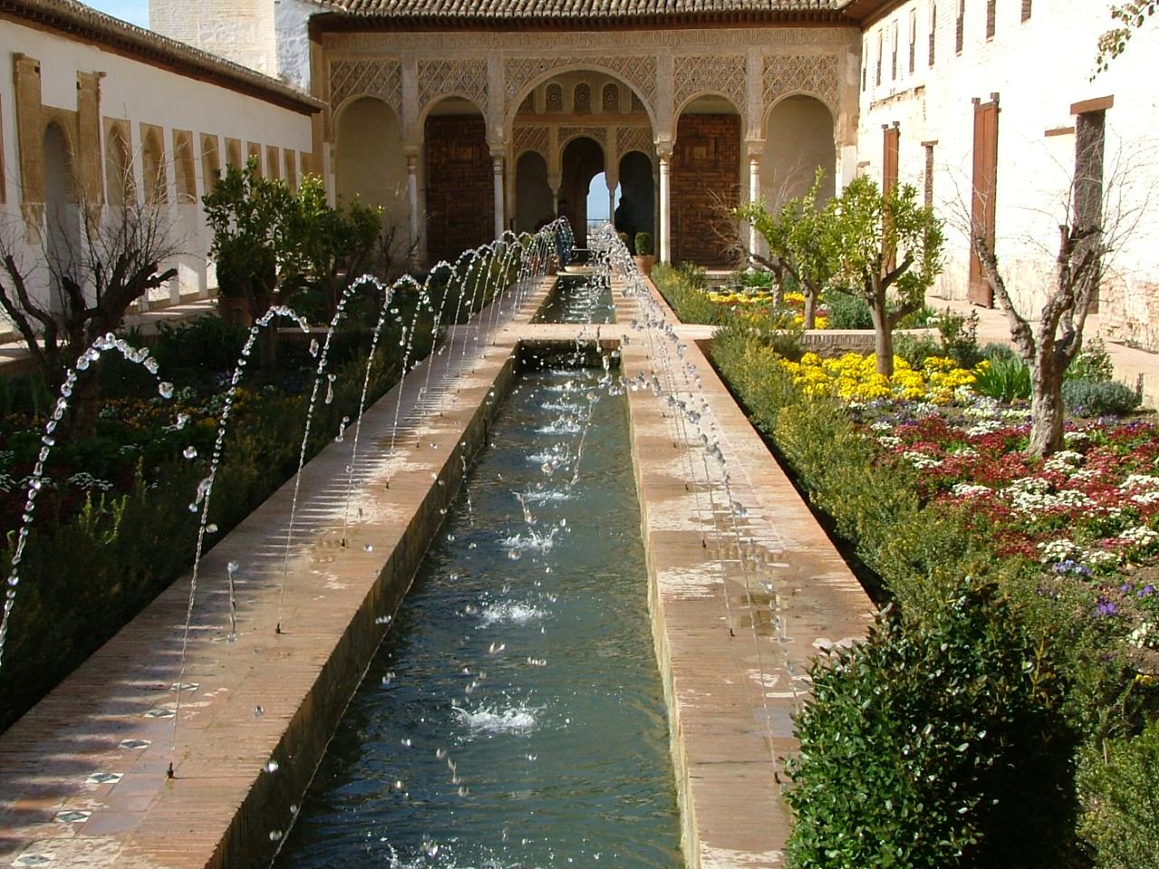 alhambra garden 2004 fountains