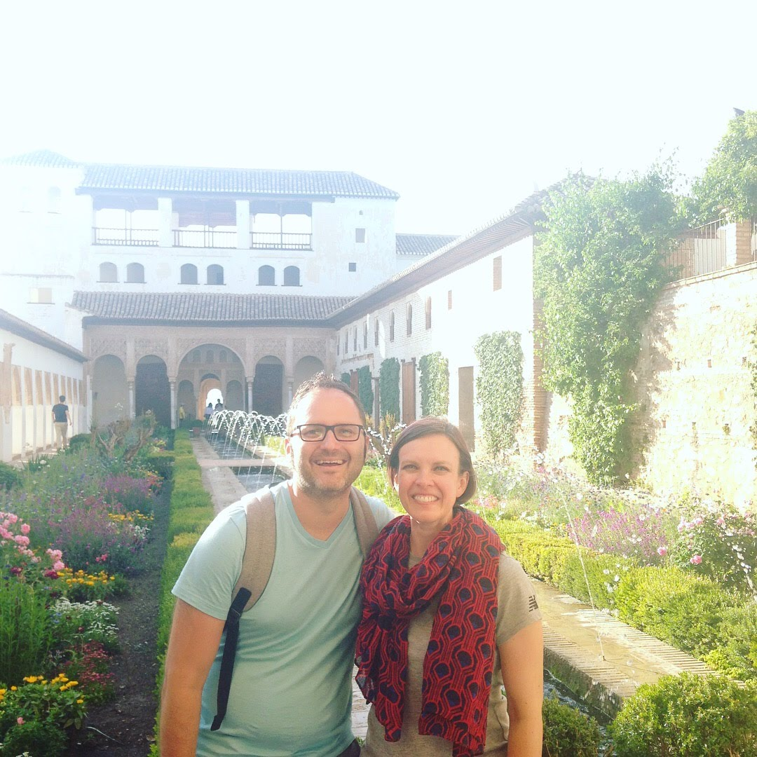 k j alhambra garden granada roses