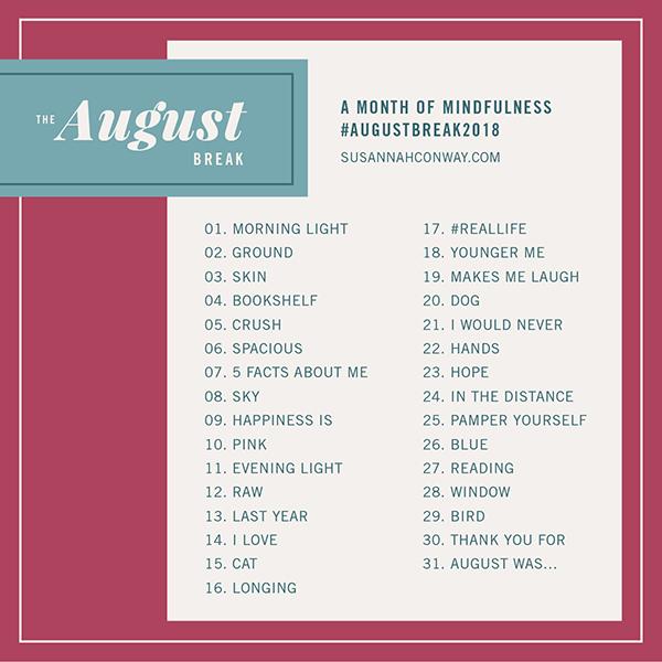 august break 2018 list