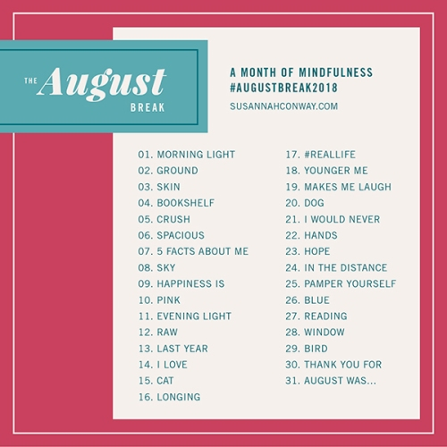 august break 2018 list