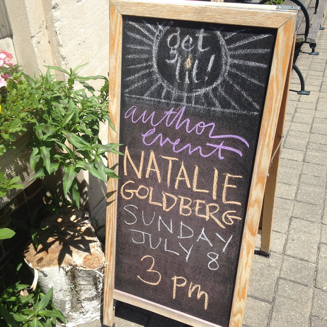 bookstore lenox sign natalie goldberg event