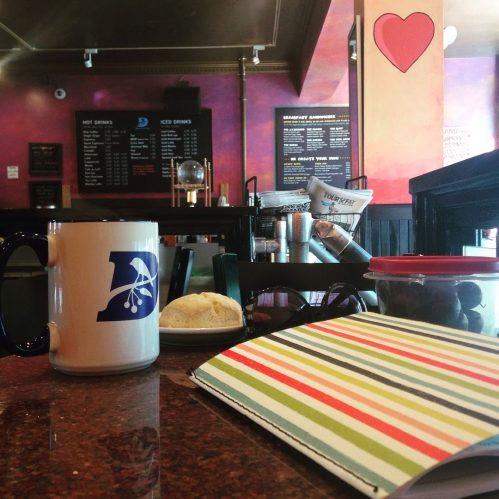 darwins mug heart table striped journal