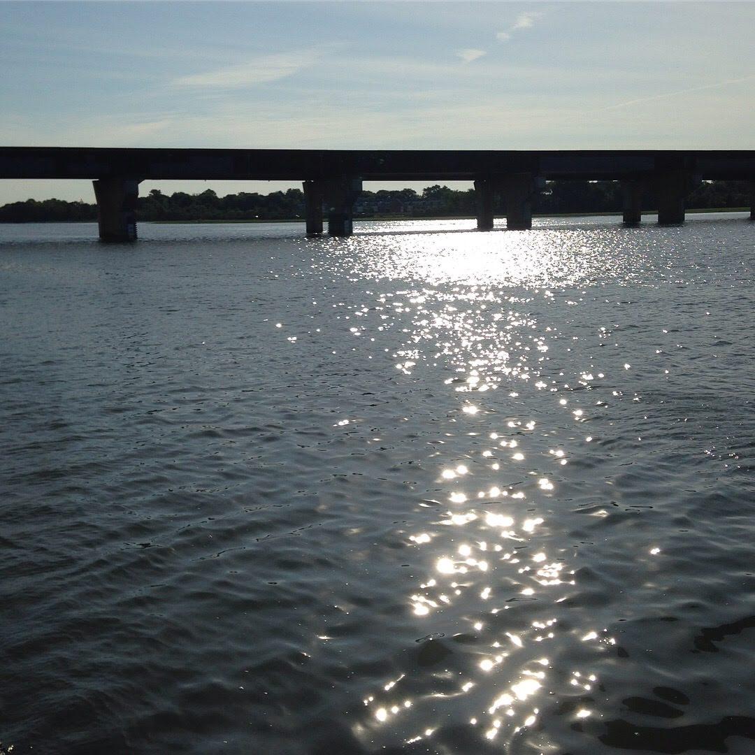neponset river light water bridge sky