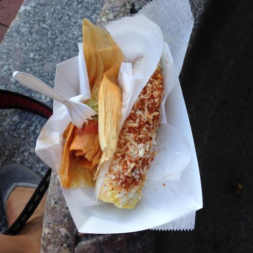 tamales elotes lunch