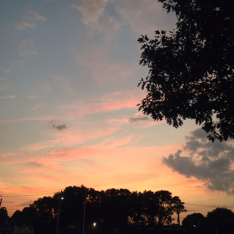 trail sunset summer sky