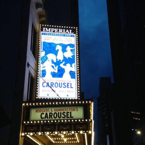 carousel broadway marquee sign