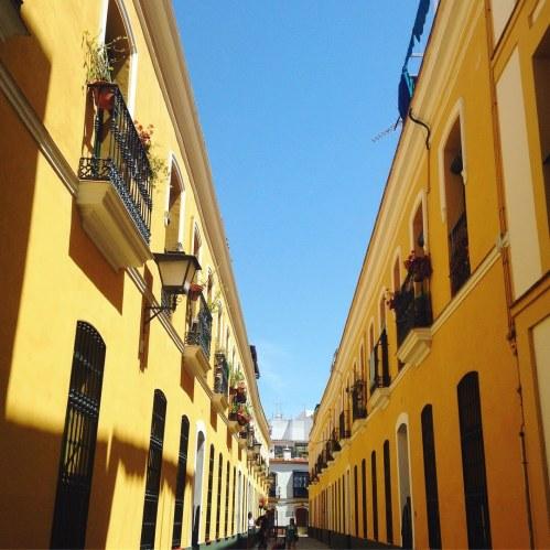 sevilla buildings yellow