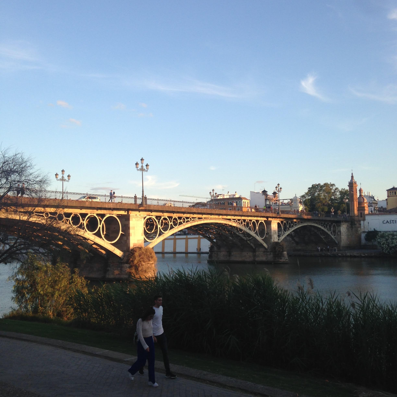 sevilla river bridge spain