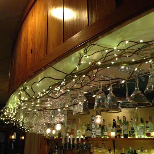 water street kitchen bar glasses lights