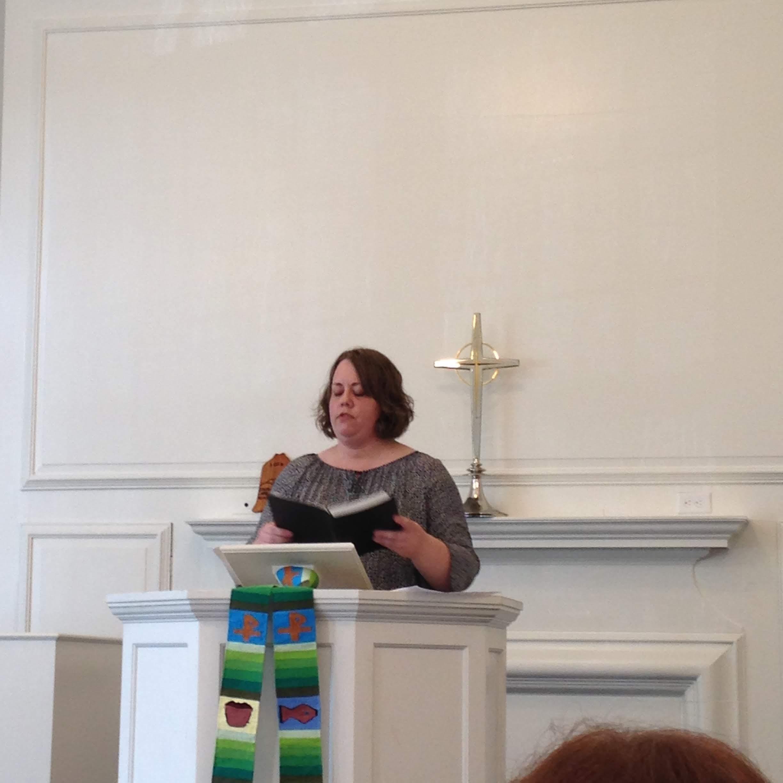 Candace pulpit Brookline church