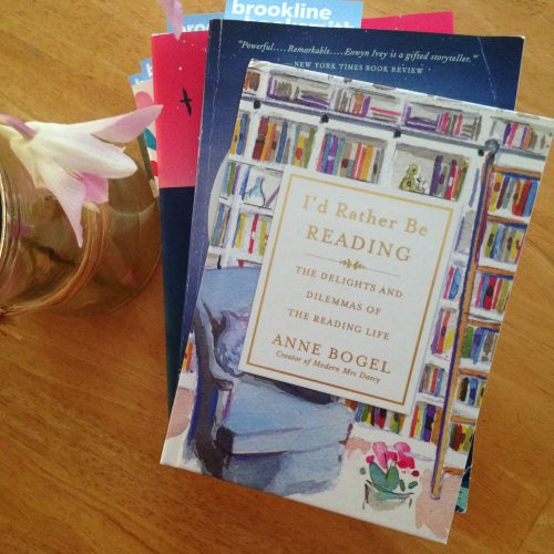 id rather be reading book flowers Anne bogel