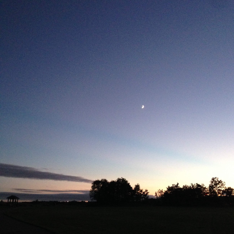 neponset dusk moon