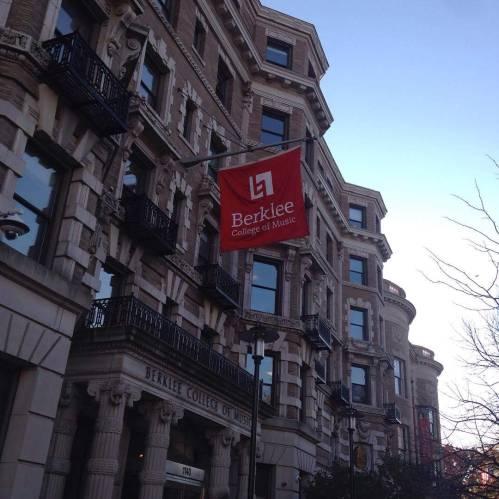 Berklee banner building Boston