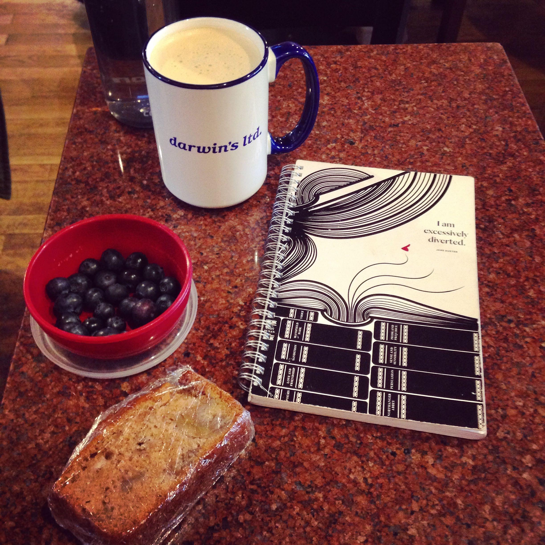 Darwin's chai berries journal coffee shop