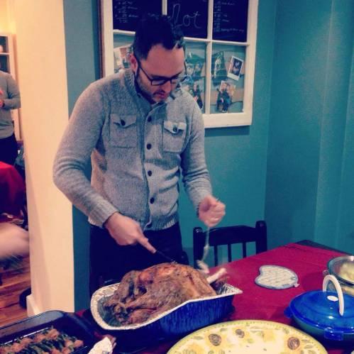 j carving turkey thanksgiving