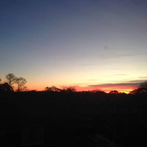 november sunrise sky
